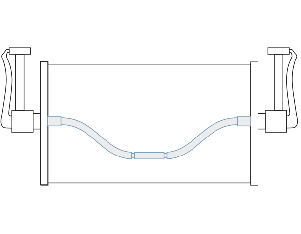 Kabelkontakt mit Kunststoffgleitlager und durchgehender Birne