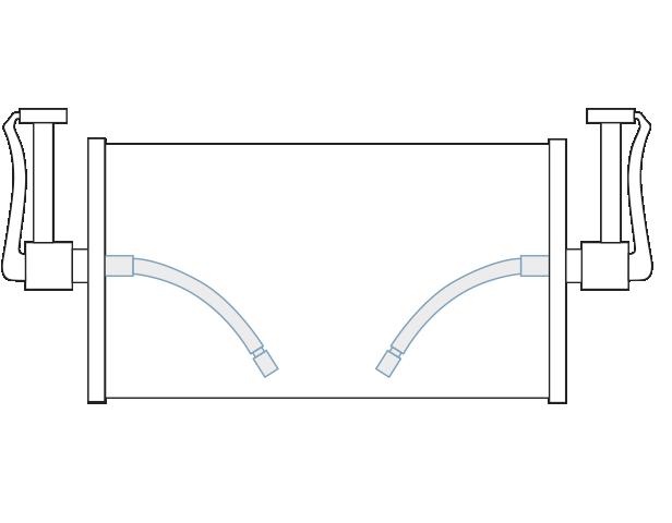 Kabelkontakt mit Kunststoffgleitlager